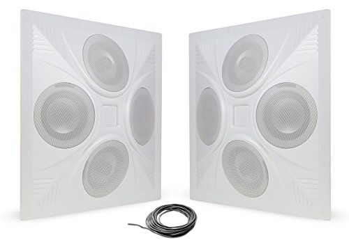 Powered Drum Monitor System (Pure Resonance Audio SD4 - SuperDispersion In Ceiling Speaker Array - 8 Ohm and 70 Volt (2 Speakers + Wire))