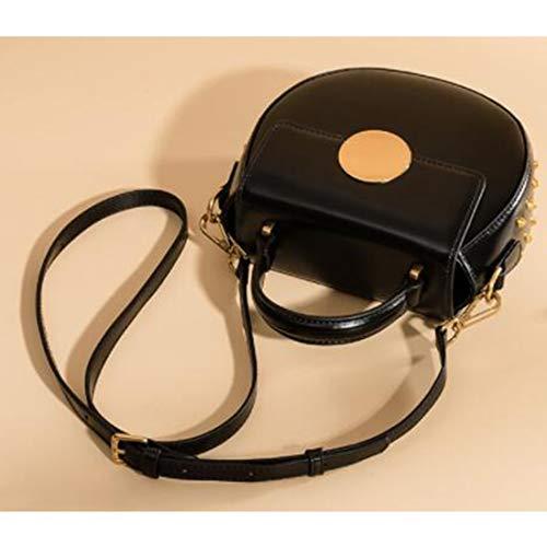 Capacidad Colgar Hombro Black Colgante De Mujer Vaca Limeinimukete Black Cuero color Bolso Diagonal Gran En Para xpYWIw