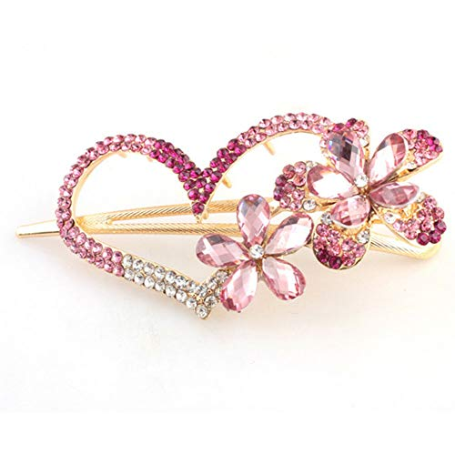MOPOLIS 2018 Women Girls Crystal Plastic Hair Clip Clips Claw Comb Accessories Headwear | StyleID - 014 Pink ()