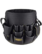 Tool Box Tool Bag Multi-Tool Bucket Bag Wear-Resistant Oxford Cloth Portable Toolbox Round Open Top Tool Organizer Box for Storage Hardware Tools and Accessories Tool Organizers