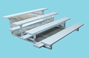 SSG-BSN LR0421 4 Row 21 Feet Low Rise Bleacher from SSG / BSN