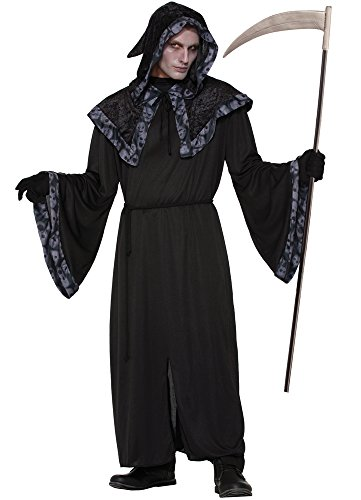 Black Robe Costume Uk (Forum Men's Spirit and Souls Costume Robe, Multi/Color, One Size)