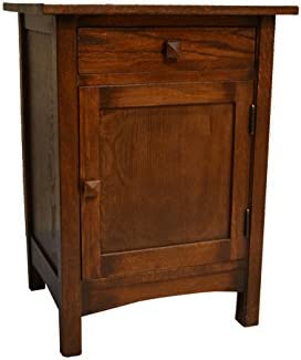 Crafters Weavers Arts and Crafts Mission Nightstand End Table Made with Solid Oak