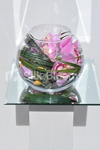 Moderno toque fresco Artificial rosa Cymbidium orquídea callejera cardo pecera arreglo Floral: Amazon.es: Hogar