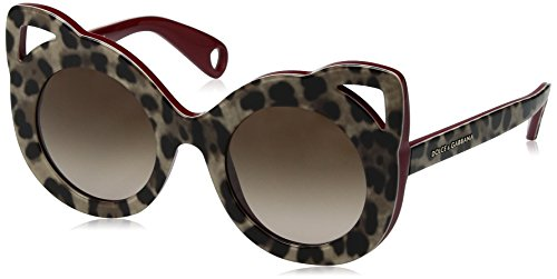 Dolce & Gabbana Women's Acetate Woman Round Sunglasses, Top Leo on Bordeaux, 43 - Gabanna Y Dolce