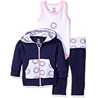 Yoga Sprout Baby Girls' 3 Piece Jacket, Top and Pant Set