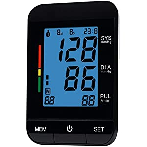 FDA Approved Automatic Clinical Digital Blood Pressure Monitor Machine with Large Screen Display Irregular Heartbeat BP and Adjustable Upper Arm Cuff Perfect Everyday Health Monitoring 2 YEAR WARRANTY