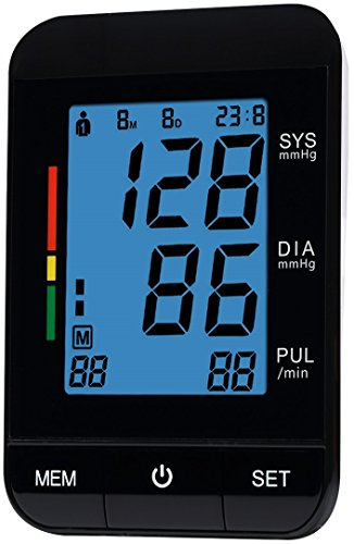 FDA Approved Automatic Clinical Digital Blood Pressure Monitor Machine with Large Screen Display Irregular Heartbeat BP and Adjustable Upper Arm Cuff Perfect Everyday Health Monitoring 2 YEAR (Intelligent Lcd Diagnostic Display)