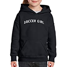 Xekia Soccer Girl USA Soccer Jersey Hoodie For Girls and Boys Youth Kids
