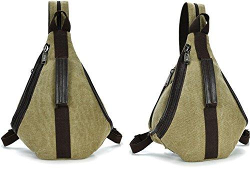LINNBER - Bolso mochila  de Lona para mujer caqui