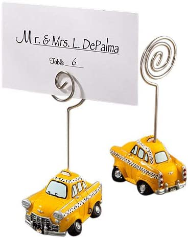 FASHIONCRAFT 5244 Classic Whimsical Taxicab Place Card Holders, Travel Themed Favors, Pack of 144