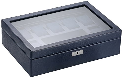 WOLF 465217 Howard Watch Box, Navy