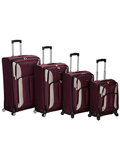 - Rockland Luggage Impact Spinner 4 Piece Luggage Set, Burgundy, One Size