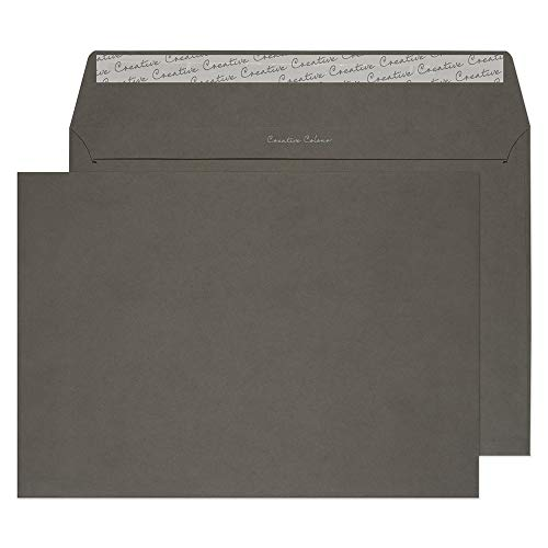 - Creative Colour C4 229 x 324 mm Wallet Peel and Seal Envelope - Graphite Grey (Pack of 250)