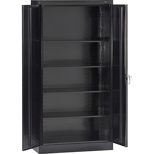 - Tennsco 7224 24 Gauge Steel Standard Welded Storage Cabinet, 4 Shelves, 200 lbs Capacity per Shelf, 36