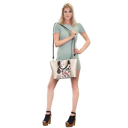 Shoulder Laptop Bag Handbag Tote Satchel Leopard Structured Black Handle Wallet Large Top Women's Matching Dasein Bag 6417 Purse Designer qx7twPg