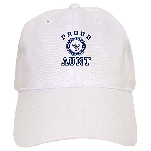 CafePress Proud US Navy Aunt Baseball Cap with Adjustable Closure, Unique Printed Baseball Hat