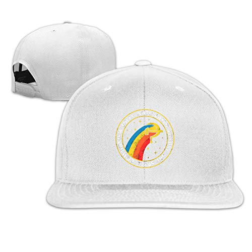 YouNood Fully Automated Luxury Gay Space Communism Flat Bill Snapback Adjustable Tennis Hats White