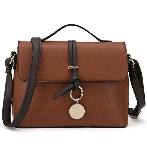 Stylish Cross Body Purses For Women Fashion Shoulder Bag Ladies Designer Handbag (Dark Brown) (Handbags New Designer)