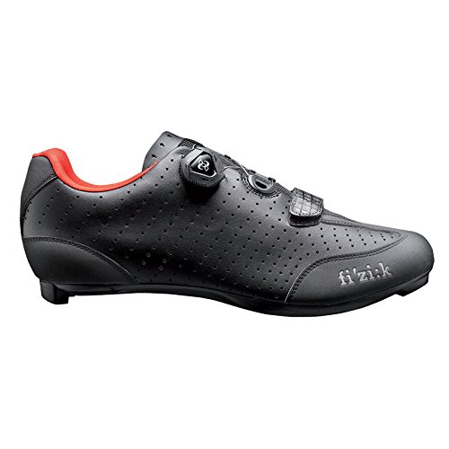 Fizik R3 UOMO BOA Road Cycling Shoes, Black/Red, Size 44.5  Black/Red