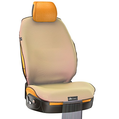 - TiiL Universal Front Car Seat Cover for Cars - Suits Athletes, Pets and Kids, Easy On-Off Quick-Dry Microfiber Seat Protector, Absorbent, Non-Slip, Washable, For Cars, SUVS and Trucks, Fit-Towel