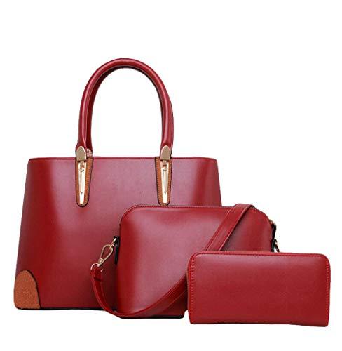 Sauvage Sacs Main De Trois Messenger Paquets Portefeuille Mère Simple Mode Dames Red à De Sac Oq1Hw