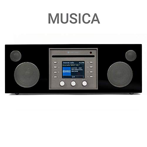Como Audio: Musica - Wireless Music System with CD Player, Internet Radio, Spotify Connect, Wi-Fi, FM, Bluetooth and One Touch Streaming - Piano Black ()