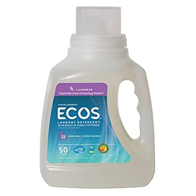 6 x Earth Friendly Products ECOS Laundry Detergent, Lavender 50 fl oz (650 ml)