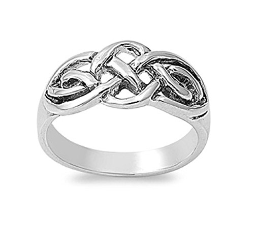 925 Sterling Silver Trinity Style Weave Ring