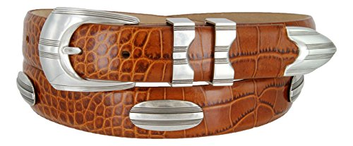 (81208143 Men's Italian Calfskin Designer Golf Dress Belt (ATAN,38))