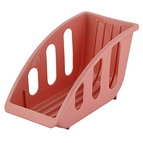 uxcell Plastic Household 5 Slots Dish Plate Holder Stacking