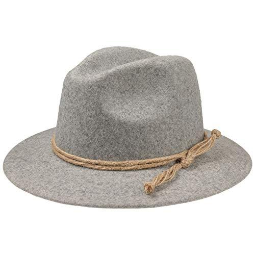 53ac36d66441c9 Lierys Tyrolean Mountain Hat Women/Men Grey L (7 1/8-7