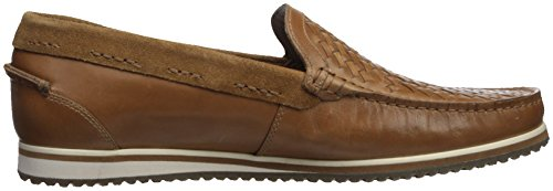 Hush Puppies Mens Bolognese Vävda Moc Loafer Ljusbrun
