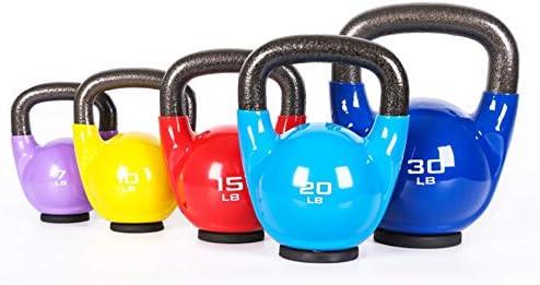 HAHA バトルロープ 着色鋳鉄ケトルベル、ラバーベース、多機能筋力トレーニング機器、5 7 10 15 20 25 30 35 40 45ポンド (Size : 45 pounds)
