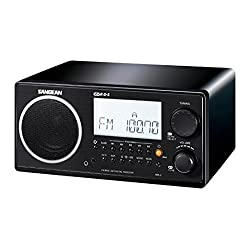 Sangean WR-2BK FM-RDS (RBDS)/AM Wooden Cabinet Table Top Digital Tuning Receiver, Black, 10 Memory Preset Stations (5 FM/5 AM), Easy to Read LCD Display, Digital tuning system, Clock and Alarm (Radio/Buzzer), Adjustable Sleep Timer