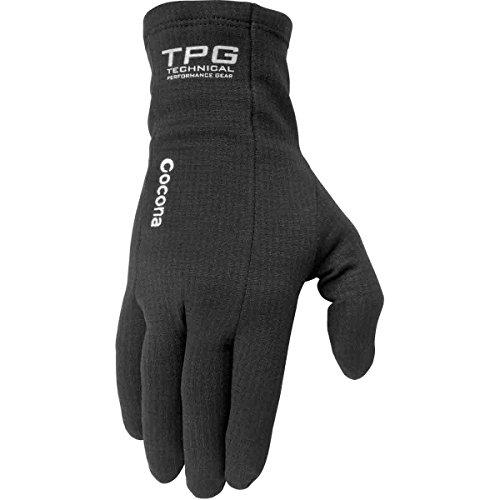 (FirstGear TPG 37.5 Tech Men's Liner Street Bike Racing Motorcycle Gloves - Black / Large)