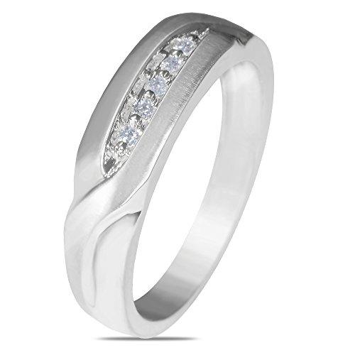 1/12CT Diamond Wedding Band in 10k White Gold