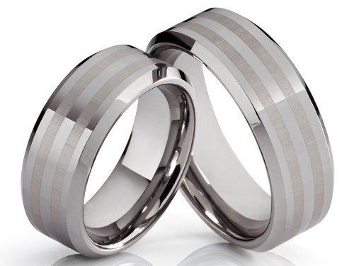 2 anillos Póster con alianzas de boda anillos de compromiso anillos de amistad anillos de tungsteno