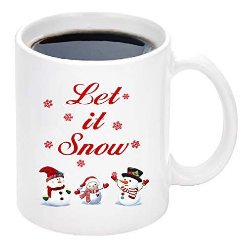 Christmas Coffee Mug Let it Snow Coffee Mug with Cute Christmas Snowman Merry Christmas Mug New Year Gifts Christmas Gifts for Friends Men Women Father Mother Coffee Mugs for Christmas 11Oz