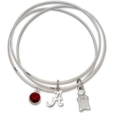 Alabama Crimson Tide 2011 BCS National Champions Coaches' Trophy Triple Bangle Bracelet