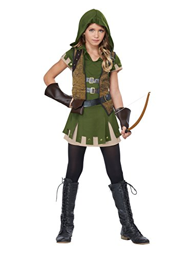 California Costumes Miss Robin Hood Costume, Olive/Brown, Medium ()