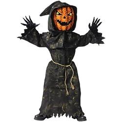 Fun World Bobble Head Pumpkin Costume, Medium 8 - 10, Multicolor