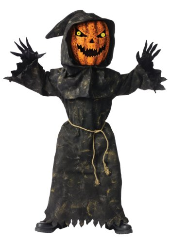 Scary Pumpkin Halloween Costumes - Bobble Head Pumpkin Ghoul Kids