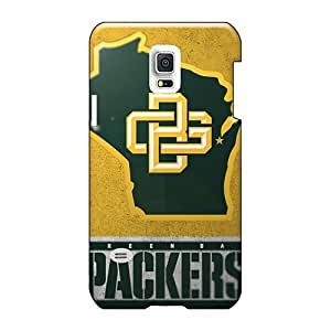 Bumper Hard Phone Covers For Sumsang Galaxy S5 Mini (Eea2744RUme) Unique Design High Resolution Green Bay Packers Pattern