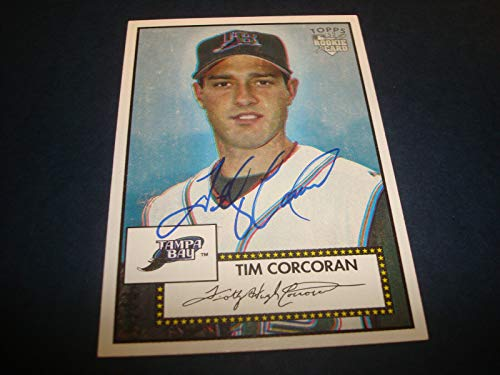 Tim Corcoran Rays 2006 Topps '52 Rookie Card #230 Signed Authentic Autograph A9