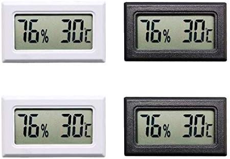 Thlevel Mini Termómetro Higrómetro Digital Interior de Temperatura y Humedad (4 PCS)