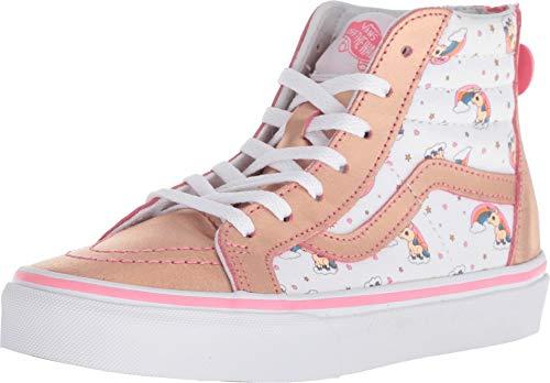 Vans Kids Unicorn Rainbow SK8-HI Zip Skate Shoes (11.5 M US Little Kid, Unicorn Rainbow Pink Lemonade)