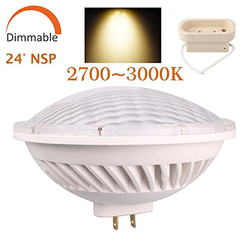 BAOMING PAR56 LED BULB 26W Dimmable Warm White (2700~3000K) SMD LED Light 24°Beam Angle Replace A Standard PAR-56 300 Watt Light AC/110~130V Base Type: GX16D