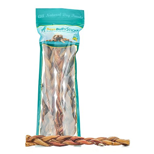 Best Bully Sticks All-Natural Braided Bully Sticks - Promotes Dental Health - Healthy Alternative to Rawhide by...