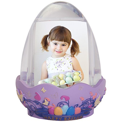 Easter Egg Photo Snow Globe with Resin Base (Photo Snowglobe)